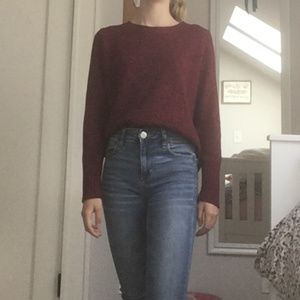 H&M Red and Blue Sweater